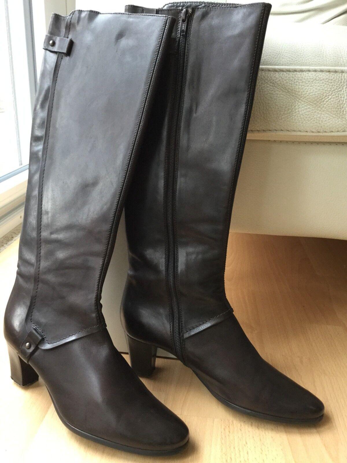 botas piel señora marrón italiano