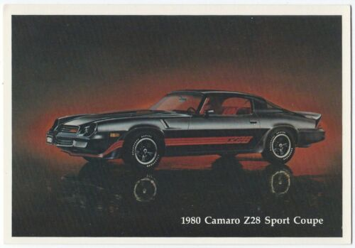 ^ 1980 Chevrolet CAMARO Z28 SPORT COUPE Dealer Promotional Postcard UNUSED VG