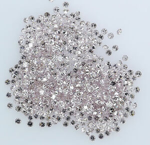 Natural-Loose-Diamonds-Cut-Pink-Round-SI1-Clarity-0-80-To-1-00MM-25-Pcs-Lot-NQ23