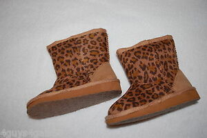abd3d4565a2a8 Image is loading Toddler-Baby-Girls-BROWN-CHEETAH-LEOPARD-PRINT-BOOTS-