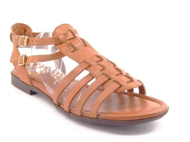 New WEISS MOUNTAIN Slingback Damens Leder Ankle Strap Slingback MOUNTAIN Flat Sandale Schuhe Sz 7 M fb9bb2