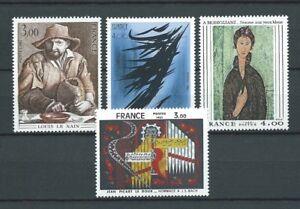 TABLEAUX-d-039-ART-1980-YT-2107-a-2110-TIMBRES-NEUFS-LUXE