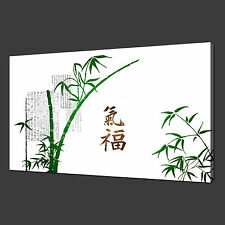 GREEN BAMBOO CHINESE DESIGN PICTURE PHOTO CANVAS PRINT ART 20 x 16 Inch WALL ART