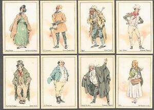 1914 John Player & Sons Characters from Dickens Tobacco Cards Complete Set of 10