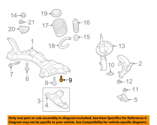 FORD OEM 08-11 Focus Front Suspension-Lower Control Arm Mount Bolt W500442S309