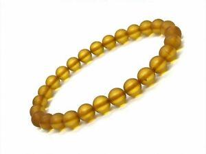 AMBER-BRACELET-Natural-BALTIC-AMBER-Round-Beads-Unpolished-Elastic-Gift-5g-12750