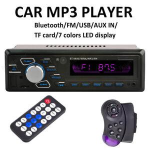 12V-Auto-60W-In-Dash-FM-Radio-Stereo-Audio-MP3-Player-TF-USB-Aux-Receiver