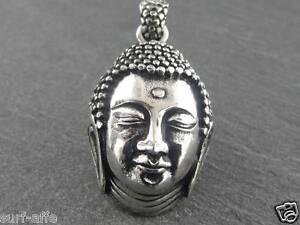 Ciondolo-acciaio-inox-Buddha-Thai-BUDDISMO-AMULETO-INDU-SHIVA-Collana-gioiello