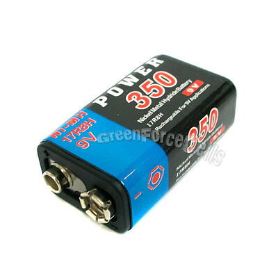 1 pc 9V 9.0V Volt 350mAh Ni-MH 17R8H 6F22 Rechargeable Battery Power