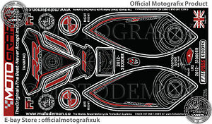 BMW S1000RR 2012 Tank Pad & Knee Section Number Board Motografix 3D Protector