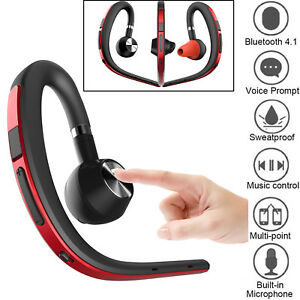 Wireless Bluetooth Headset Earpiece With Mic For Men Cell Phone Driving Business Ebay