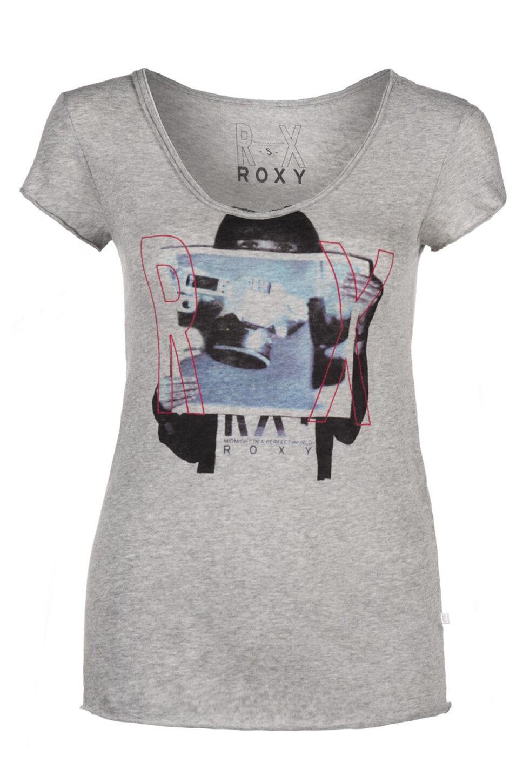 Neu Neu Neu Roxy Ho  B Damen Rundhals T-Shirt heather grau grau | Sorgfältig ausgewählte Materialien  c5ccf4