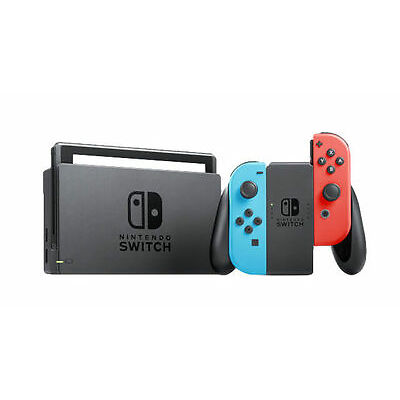 Nintendo Switch - 32GB Gray Console (with Neon Red/Neon Blue Joy-Con) Used