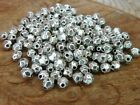 120 pce Tibetan Silver Faceted Oval Metal Spacer Beads 4mm x 3.5mm
