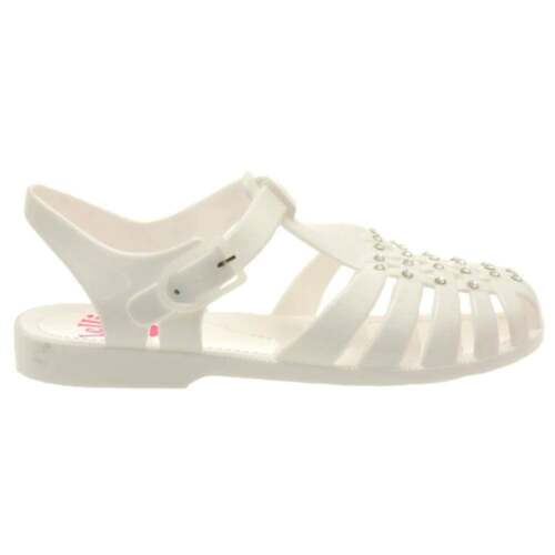 BNWB Lelli Kelly Girls White Sorrento Diamante Jelly Sandal