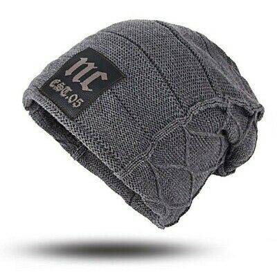 Truckers are US Heartbeat Knit Caps Knit Skull for Mens Black