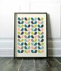 Minimalist print Mid Century modern minimalist leaf print Scandinavian style art