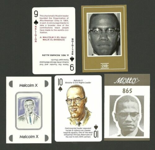 Malcolm X Minister Civil Rights Leader Fab Card Collection