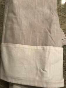 Pottery Barn Evelyn Linen Blend Border Blackout Panel