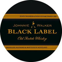 Johnnie Walker Black Label Sticker Decal Vinyl Logo 4 Stickers