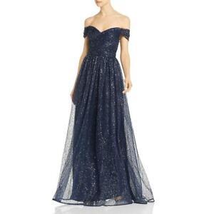 Aidan-Mattox-Womens-Grecian-Off-The-Shoulder-Formal-Evening-Dress-Gown-BHFO-5200