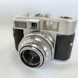 Voigtlaender-Vitomatic-II-35mm-Entfernungsmesser-Kamera-W-50mm-Skopar-f2-8-Objektiv-Germany