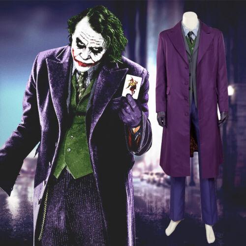 Batman Dark Knight Joker Cosplay Costume Joker Uniform Halloween Costume for Men