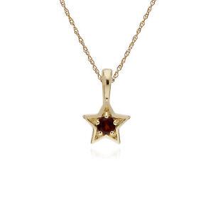 Gemondo-9ct-Yellow-Gold-Garnet-Single-Stone-Star-Pendant-on-45cm-Chain