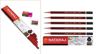 SCHOOL OFFICE USE 1 eraser 1 sharpener 10X Nataraj 621 BE BOLD Writing Pencil