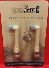 ROTADENT PLUS BRUSH HEAD FLAT HOLLOW ROTA DENT FREE SHIPPING 1 PACK 2 HEADS