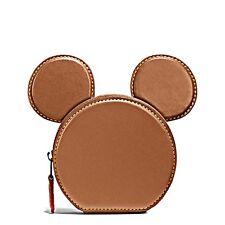 COACH x DISNEY LIMITED EDITION Mickey Geldbörse Portemonnaie  Leder braun NEU