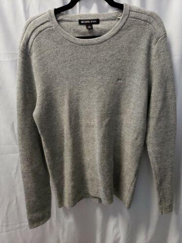 Michael Kors Mens L SweaterGray Cotton Wool Blend