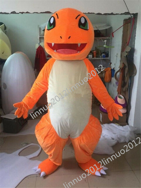 Brand Pokemon Go Pikachu Mascot Costume Halloween Cos Game Dress Adults Size New
