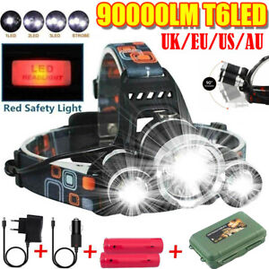 90000LM-T6-LED-Headlamp-Headlight-Flashlight-Head-Torch-18650-Sets-Rechargeable