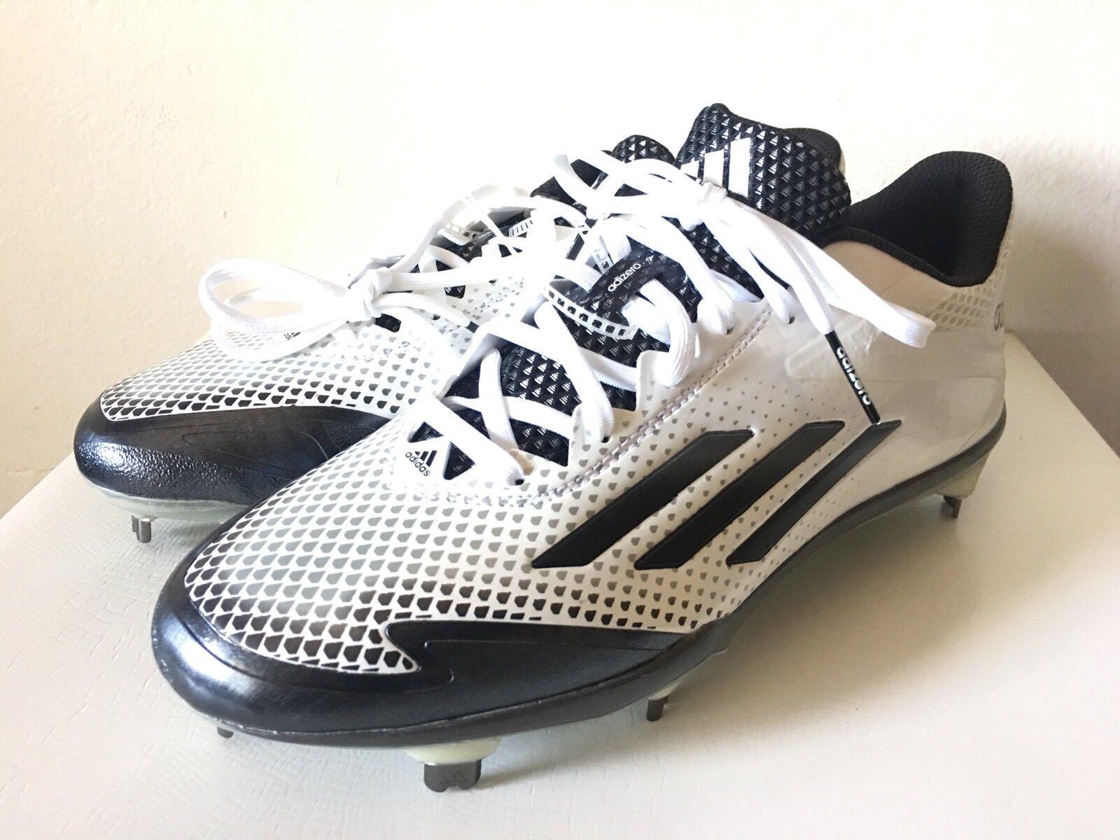 ADIDAS Adizero Afterburner 2.0 Baseball Metal Cleats White S85704 New Men Size 8