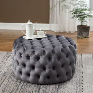 Large Chesterfield Footstool Coffee Table Ottoman Pouffe Chair Bed Bench Stool