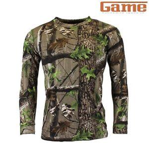 0e3660ce8d1fc Game Trek Men's Camouflage Long Sleeve T Shirt Hunting Shooting ...