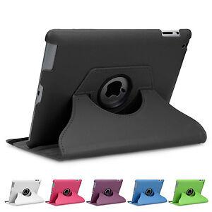 360-drehbar-Huelle-iPad-2-3-4-Schutz-Cover-Case-Tasche-Etui-Schale-Staender-Folie