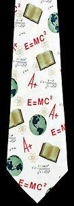 Science A+ Mens Necktie Scientist Science Physics Teacher Math Gift Neck Tie New