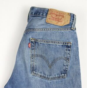 Levi-039-s-Strauss-amp-Co-Hommes-501-Jeans-Jambe-Droite-Taille-W32-L34-AVZ256