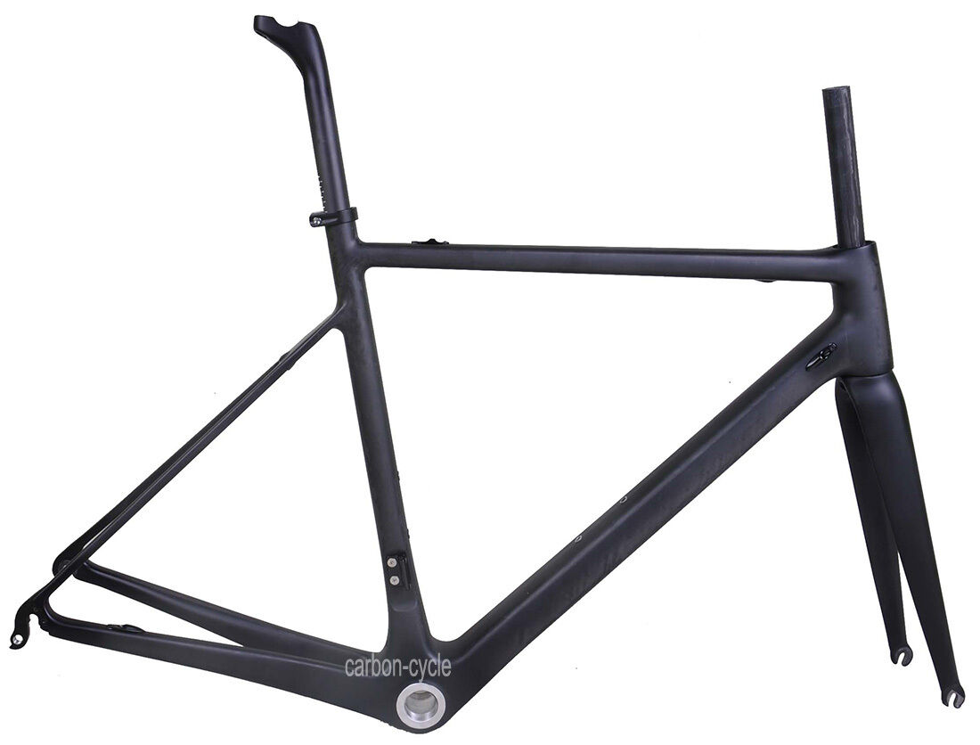 25C Carbon Road bicycle Frameset Fork Seatpost Di2 700C UD Matt BSA 54cm 950g