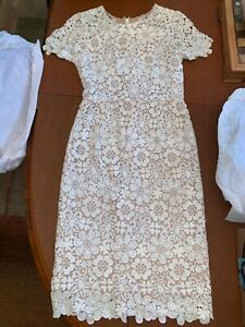 86c1ea2dfcc Image is loading Shoshanna-Beaux-Guipure-Lace-Sheath-Dress-Womens-Size-