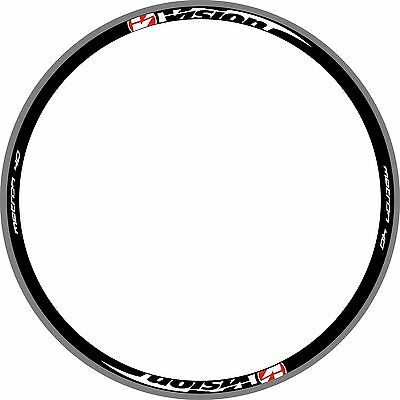 VISON METRON 40 Rims Wheel Decala Stickers Replacement Kit FOR 700C 2RIM