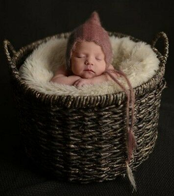 Baby Fotoshooting Mützchen Mütze Haube Häubchen Mohair Newborn Ohren Bär