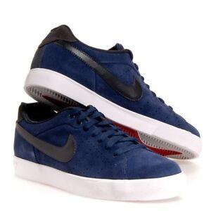 bomba célula Prehistórico  Men's Nike Court Tour Leather Yots 1972 Shoes Navy Blue, black & white |  eBay