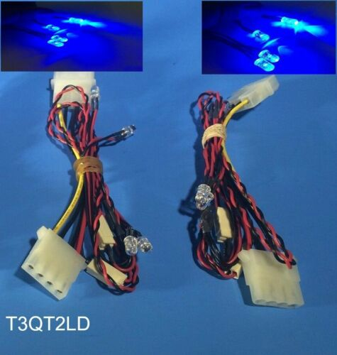 Molex Powered w// Cable NEW 8-LED Bright Blue PC Mod Kit to Light up Gaming Case