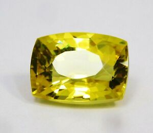 Natural-CERTIFIED-Cushion-10-Cts-Yellow-Sapphire-Loose-Gemstonenee
