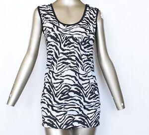 Ladies-women-Stretchy-U-NECK-top-or-leggings-Zebra-print-tops-t-shirt-vest