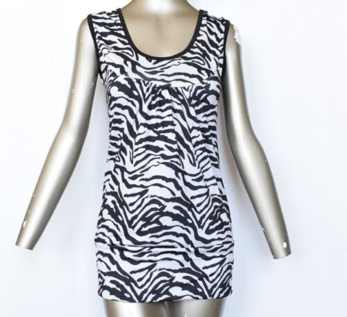 Ladies Girls women Stretchy top or leggings Zebra print tops t-shirt vest 8-26