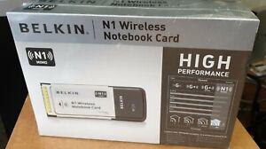 BELKIN N1 WIRELESS NOTEBOOK CARD DRIVERS FOR WINDOWS VISTA